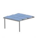 Ombrières photovoltaique Shadow solar 2 pieds - 4PV