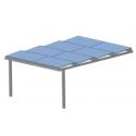 Ombrières photovoltaique Shadow solar 2 pieds - 12PV