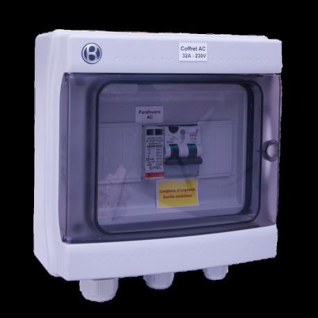 Coffret AC 5-6 kW monophasé 230 V AC 32 A